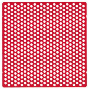 Wachs-Lochgitter-Retentionen für partielle OK-Modellguss-Prothesen, 70 x 70 mm