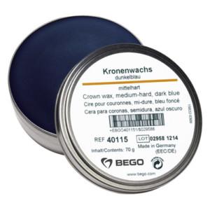 Kronenwachs, mittelhart, dunkelblau