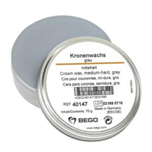 Kronenwachs, mittelhart, grau