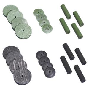 Gummipolierscheiben, grün Ø 22 x 3,5 mm