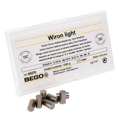 Wiron light - Aufbrennfähige Ni-Cr-Legierung, berylliumfrei