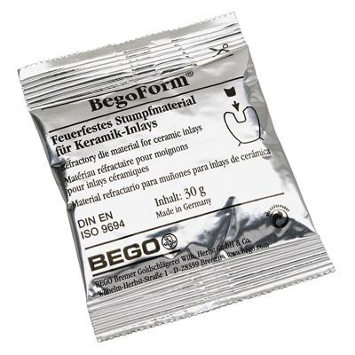 BegoForm Stumpfmaterial, 40 x 30-g-Beutel inkl. 250 ml Anmischflüssigkeit und Dosierspritze