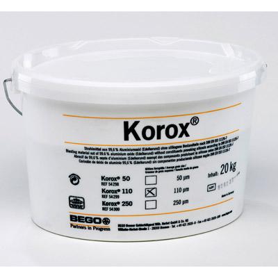 Korox® 110  Edelkorund-Abstrahlmittel (99,6% Alu-Oxid)